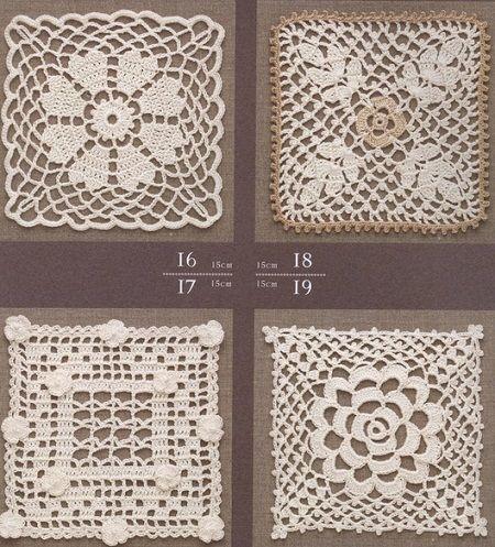 Square Filigran lace crochet