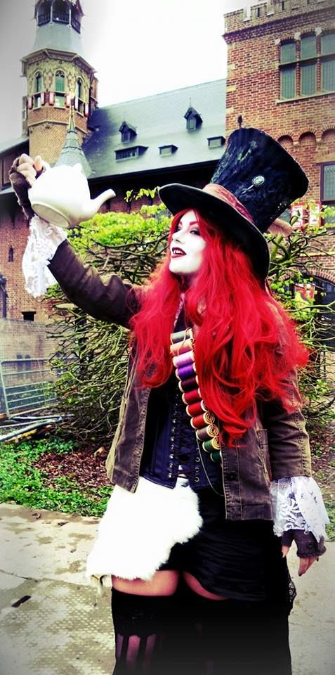 Female Mad Hatter costume.