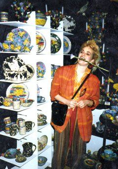 Mary Rose at Chelsea Crafts Show 1985, (30th anniversary exhibition finishes eo 14 July 2013)