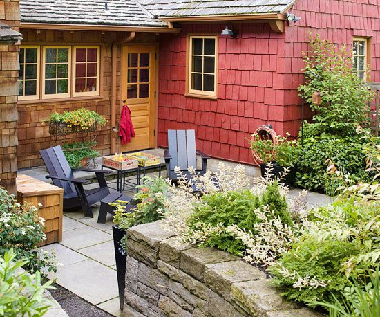 Upgrade your exterior with a welcoming patio! More ways to add curb appeal: http://www.bhg.com/home-improvement/exteriors/curb-appeal/curb-appeal-tips