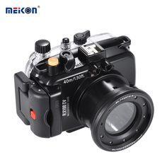MEIKON SY-16 40m / 130ft Underwater Housing Black Waterproof Camera Case for Sony RX100 IV http://www.bdcost.com/waterproof+camera