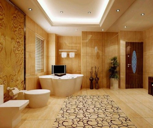 This Is An Inspiring Luxury Bathroom Picture For Modern Homes With Gold Color A Modern Bathroom Design With Premium Class Materials