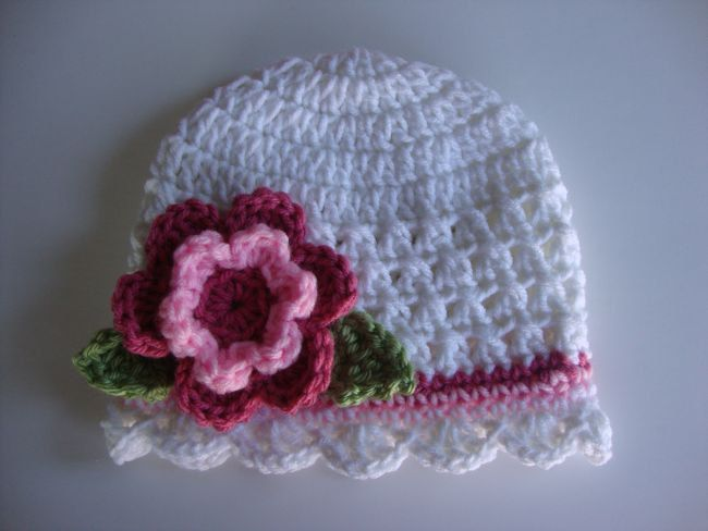 Crochet Hat Patterns For One Year Old : Baby/Toddler/Girl Crochet Hat/Beanie Pattern - Newborn to ...