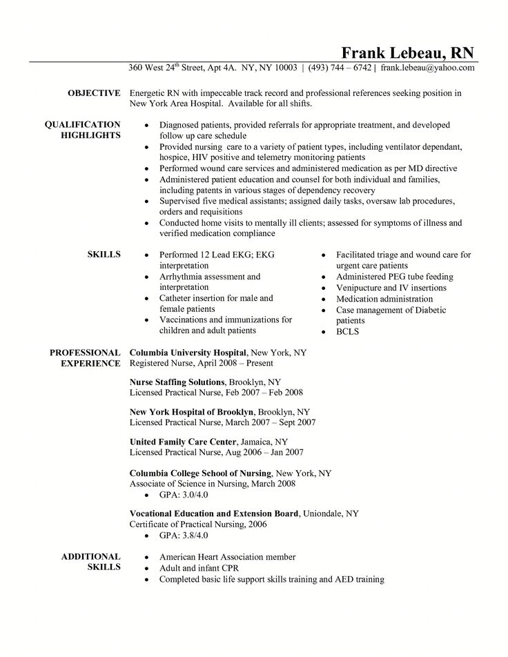 resume for triage nurse     resumecareer info