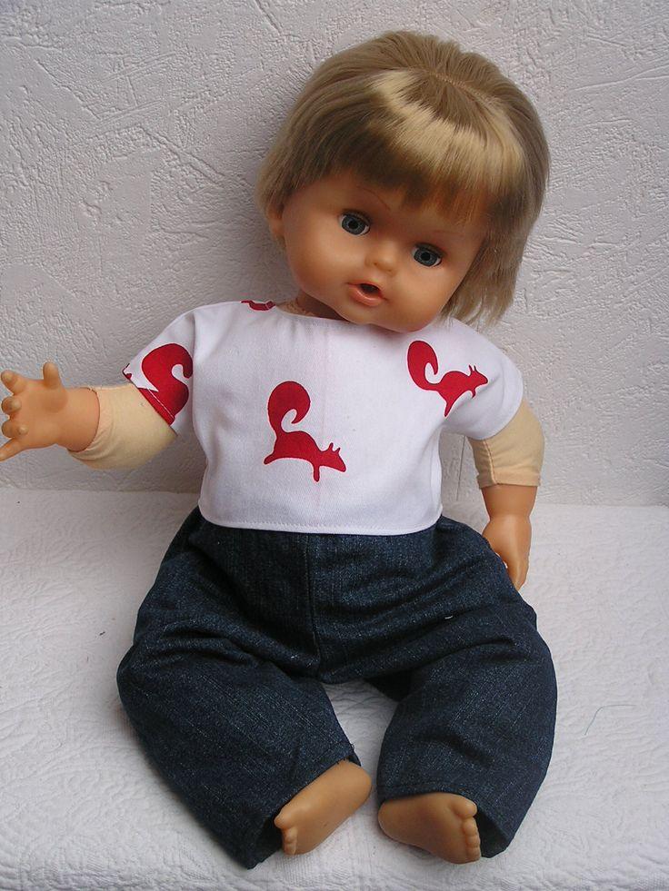 Vêtement pour poupon de 45/47 cm, compatible Cicciobello : Jeux, jouets par laines-et-tissus