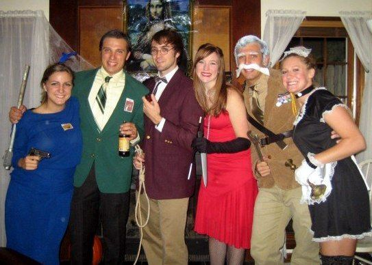 best 6 person group halloween costume ever clue characters mrs peacock - Funny Character Halloween Costumes