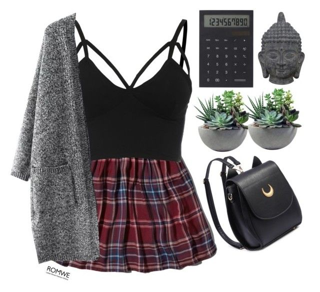 """""""#Romwe"""" by credentovideos ❤ liked on Polyvore featuring Abercrombie & Fitch, Rough Fusion, IDEA International and Three Hands"""