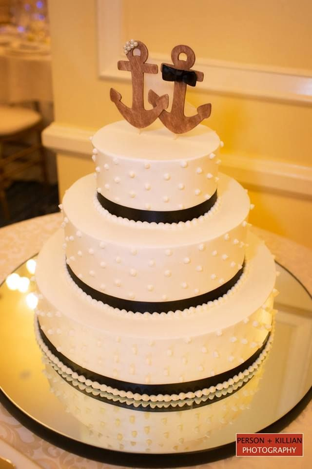 nautical wedding cake anchors symbolize the strength you gain as a by 17732