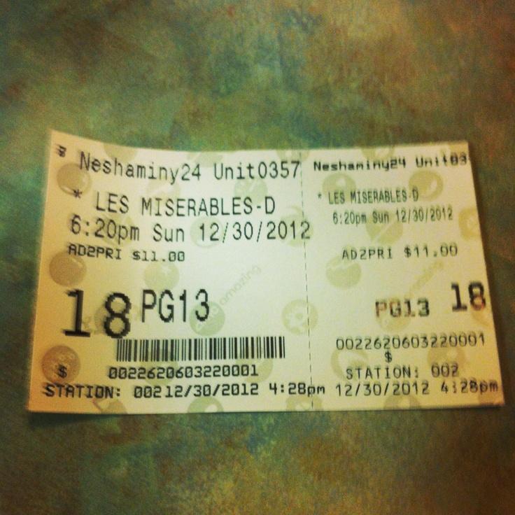 My Les Mis ticket
