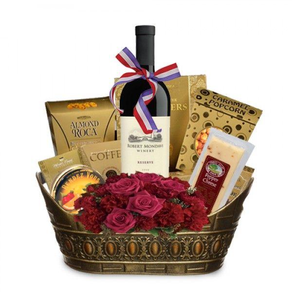 14 best wine gift baskets images on pinterest gourmet gift robert mondavi cabernet sauvignon gourmet gift basket spiritedgifts negle Gallery