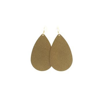 Antique Brass Nickel and Suede Leather Earrings
