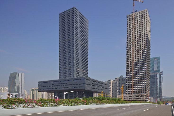 OMA: shenzhen stock exchange HQ complete - designboom | architecture