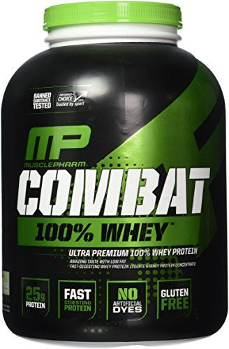 Muscle Pharm Combat 100% Whey Protein Powder, Vanilla, 5 Pound