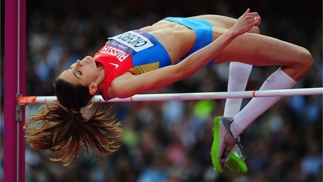 Russia's Anna Chicherova leaps to High Jump victory - London 2012 Olympics