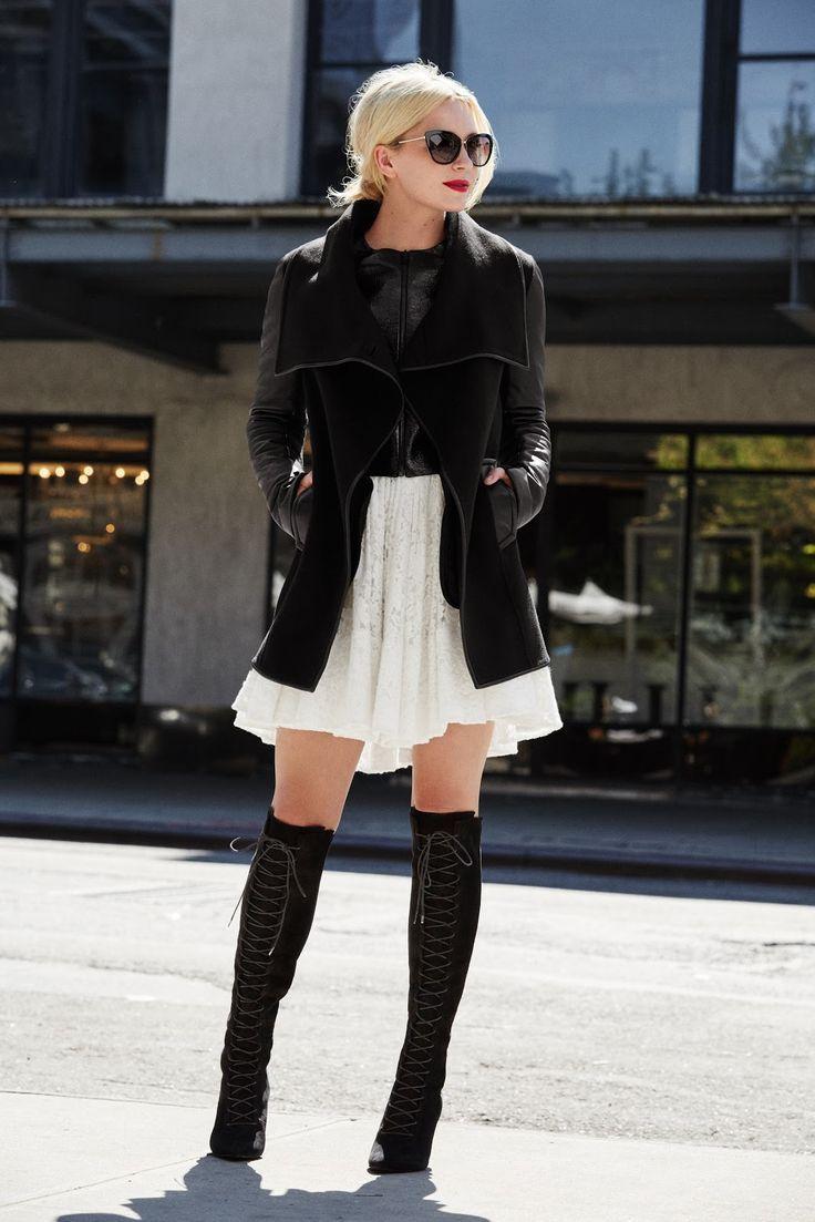 deri kollu siyah blazer ceket
