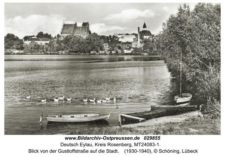 Deutsch Eylau,  Blick von der Gustloffstraße auf die Stadt