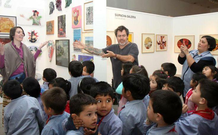 Milo Lockett y Ana Clara Diquattro en EGGO ART  2013 CENTRO CULTURAL RECOLETA.