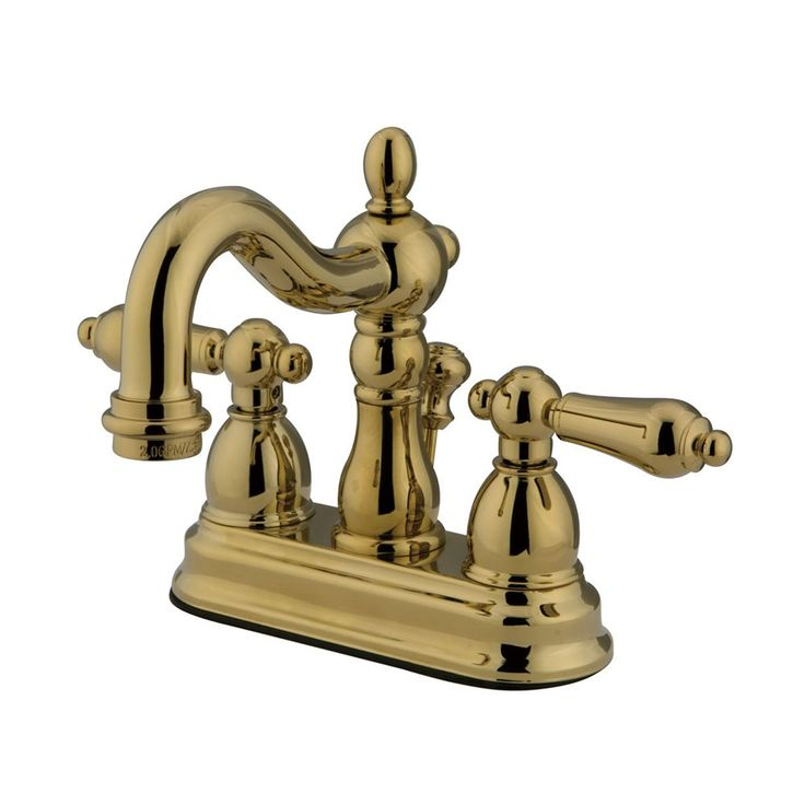 Picture Gallery Website Kingston Brass Heritage Centerset Bathroom Faucet Free Pop Up Drain A Polished Brass Faucet Lavatory Double Handle