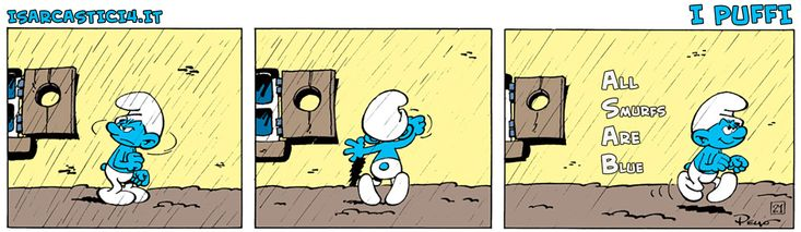 I #Puffi! A.S.A.B. (All Smurfs Are Blue) #smurfs #acab #LosPitufos #comics #parodia