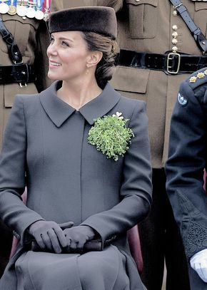 the duchess of cambridge, St. Patrick's Day 2015, pregnant with Charlotte