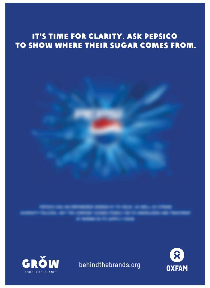 Tell Pepsi you want to know how sweet their sugar really is. Take action here: https://www.behindthebrands.org/actnow and SHARE this post #BehindtheBrands