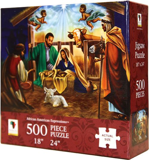 PUZ05 Black Nativity 500-piece puzzle, by African American Expressions