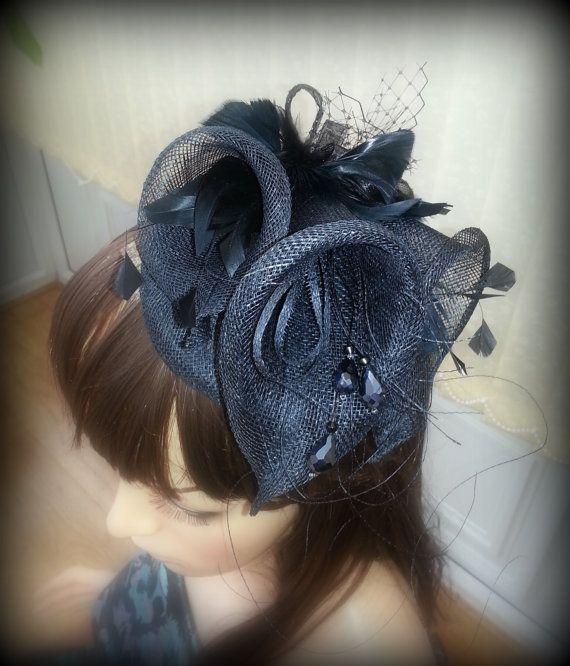 Black Lilies Fascinator Ascot races Kentucky Derby Hat