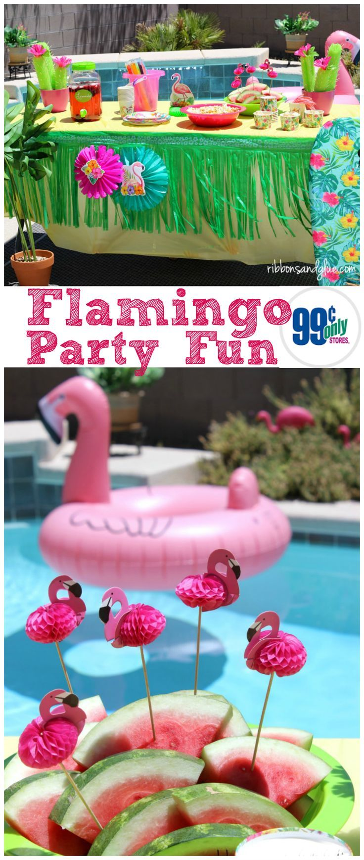 Let's Flamingo Pool Party