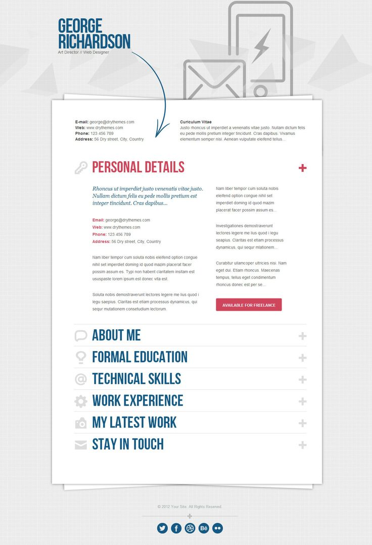 Mejores 212 imágenes de Curriculum Vitae (CV) en Pinterest ...