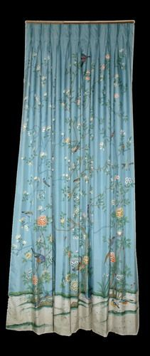 roman blind curtain- hand-painted satin voile/ han…