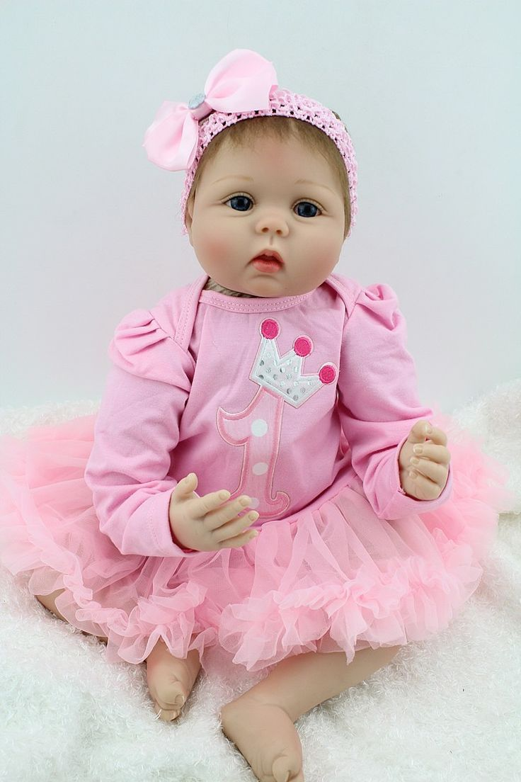 "Baby Doll Reborn Handmade Soft Silicone Realistic 22"" New - Baby Dolls"