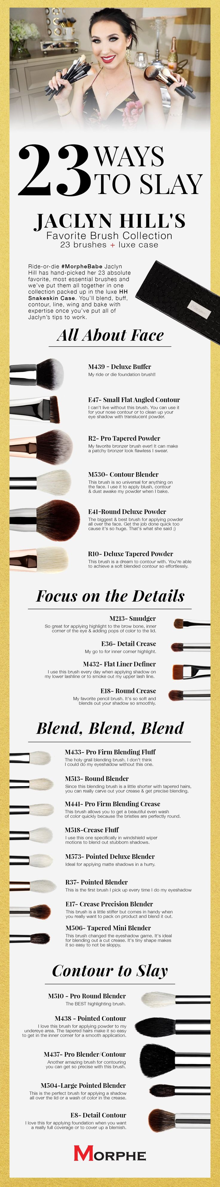JACLYN HILL'S FAVORITE BRUSH COLLECTION Artistry makeup