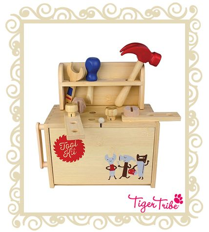 http://www.buttonbaby.com.au/tiger-tribe-boxset-tool-p-2529.html - Watch your little ones busy themselves fixing things with Tiger Tribe�s Role Play Tool Kit.Packed with all the essential tools required to get the job done, your child�s imagination will be unhinged as they role play the job of chief handyman.These sets are every bit as compact and travel-friendly as Boxsets - a world of play in every boxSuitable for ages 3 .