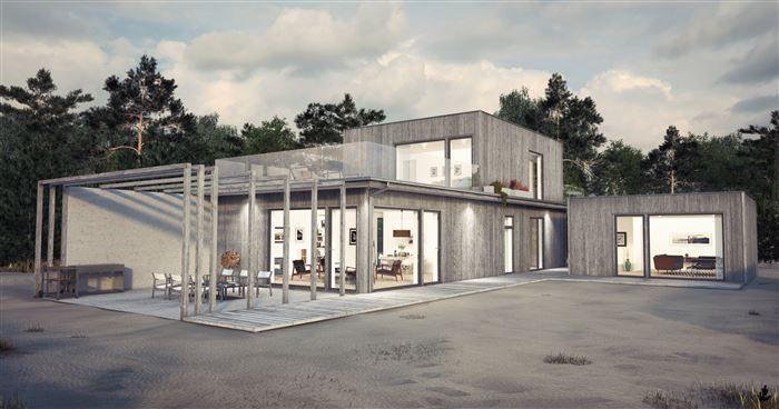 Villa Båstad Typ D från VästkustVillan, Roomservice-huset
