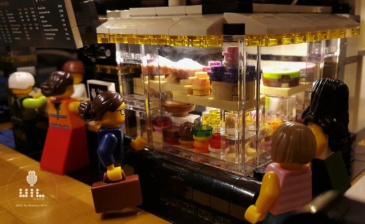 "https://flic.kr/p/QYJtxW | LEGO Modular MOC - UiL Cafe ""Mingle with the night"" 