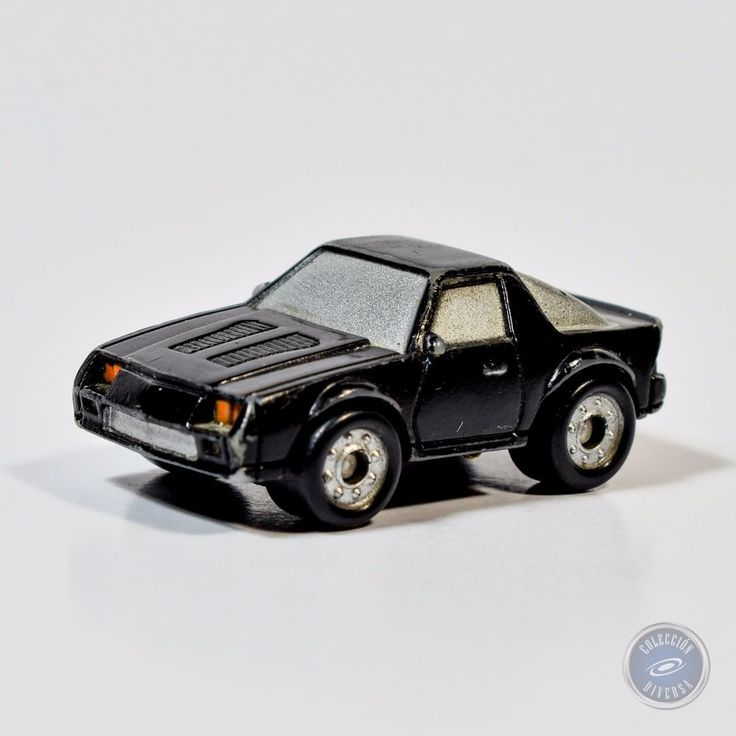 Micro Machines Funrise Black Trans Am Car with Silver Windows 1989 #Funrise