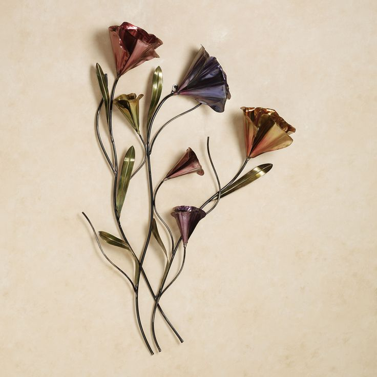 Sweet Harmony Floral Metal Wall Sculpture ~ $129.00 at touchofclass.com