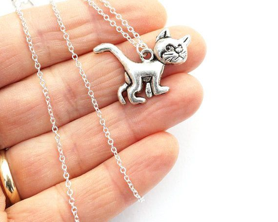 Lovely Pet Dog Cats Shape Necklace Silver Pendants Jewelry Personality Gifts New