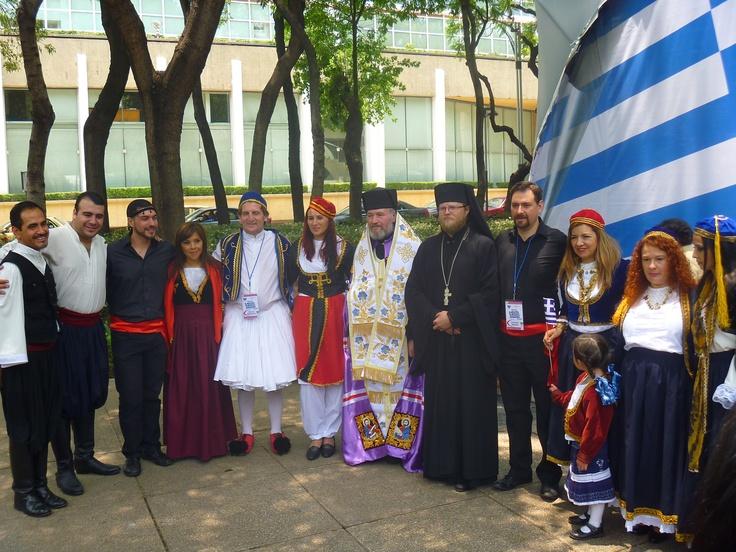 Personas de nacionalidad griega. Feria de las Culturas Amigas 2013, Cd de México