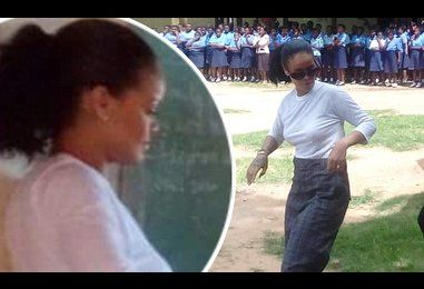 Rihanna visits school in Malawi, amid reports Madonna is set to adopt