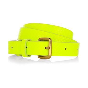 Neon Neon Neon! Love this belt to death- It matches anything and everything in my closet. Use it at least once a week. A must have!!!