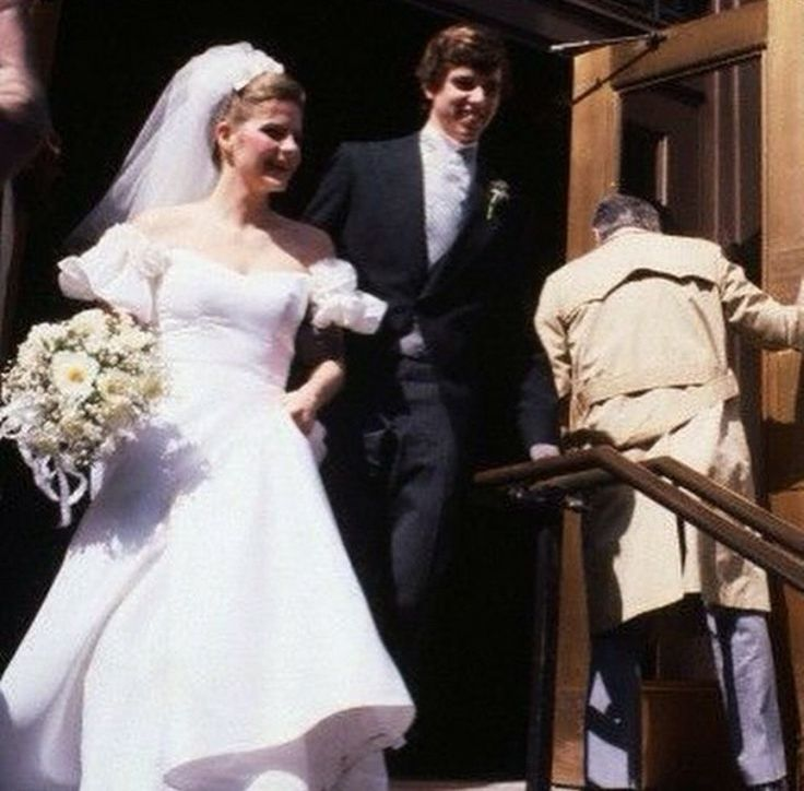 March 14, 1981: Michael Lemoyne Kennedy and Victoria Gifford greet the public following their wedding mass, enroute to the Plaza Hotel.