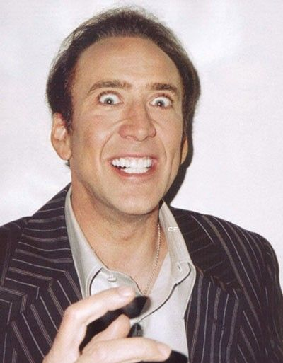 Nicolas Cage Printable, I may need this one day...
