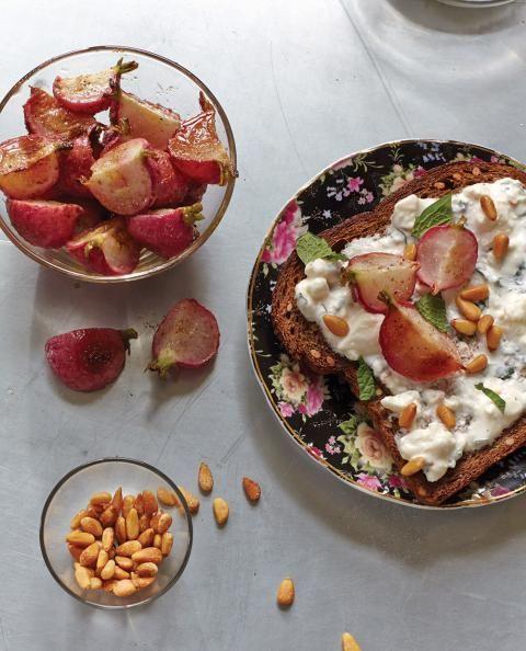 Spice Roasted Radishes and Mint Feta Yogurt
