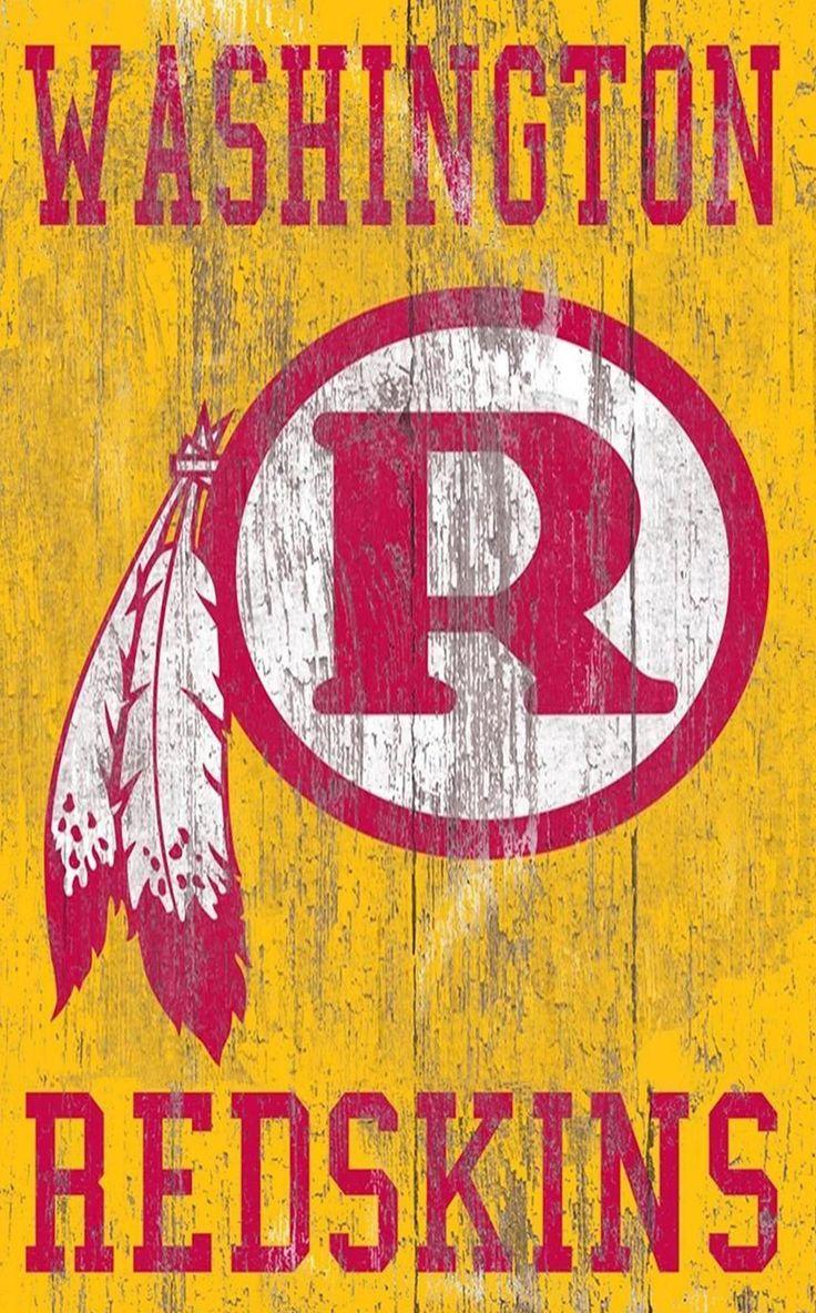 "Washington Redskins Distressed Logo 11""x19"" Wall Art en"