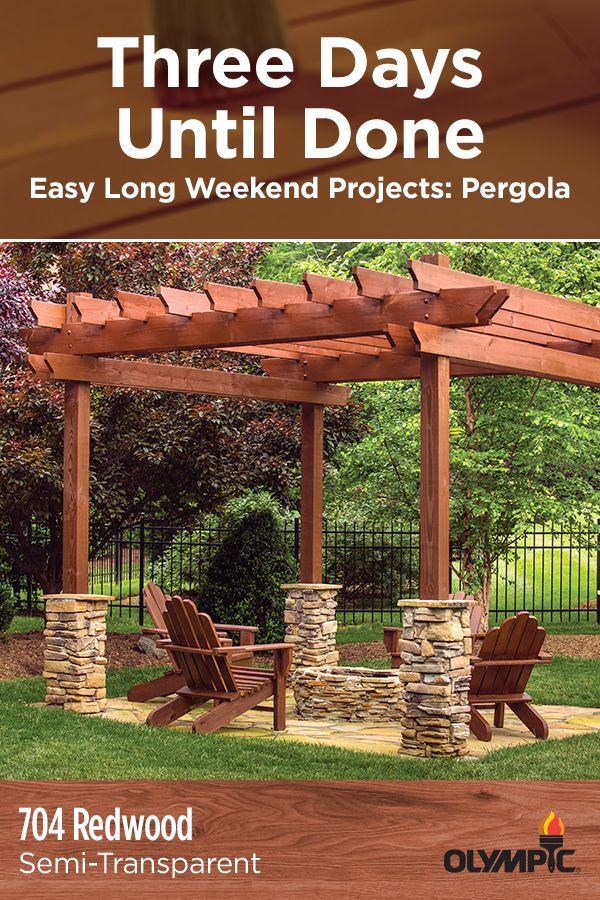 Since it's already a space where you're hosting guests, your pergola needs to look great during cookouts, parties, even for an impromptu campfire. Fortunately, you can give this space a new look without re-staining the rest of your deck. In fact, you shouldn't need more than a long weekend to finish the job.