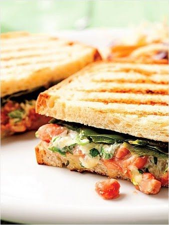 Chile Grilled Cheese A mashed-up salsa and pinto bean spread spice up ...