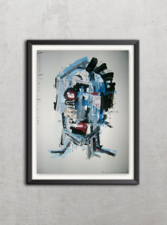 Buy Urban Face # 9141200, Acrylic painting by dimitris pavlopoulos on Artfinder…