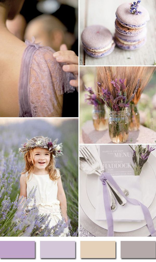 chic rustic lavender and wheat neutral wedding colors 2015