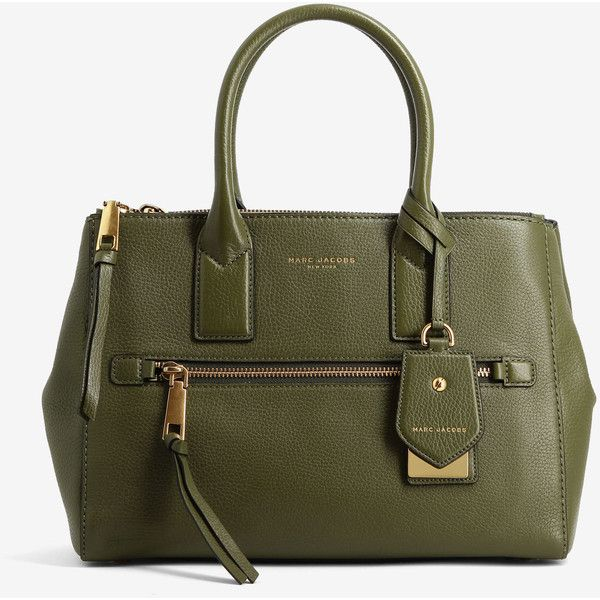 Marc Jacobs Marc Jacobs Recruit East West Tote (1,935 ILS) ❤ liked on Polyvore featuring bags, handbags, tote bags, green, zip top tote bags, tote bag purse, marc jacobs purse, green tote and marc jacobs